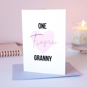 Sarah Catherine Fierce Granny Mother's Day Card