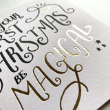 Foiled Magical First Christmas Card