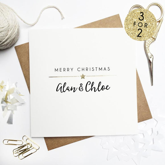 Sarah Catherine Personalised Couple Christmas Card