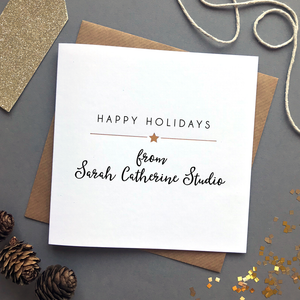 Corporate Christmas Cards.Personalised Corporate Christmas Cards Star