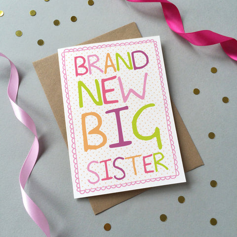 Brand New Big Sister Card