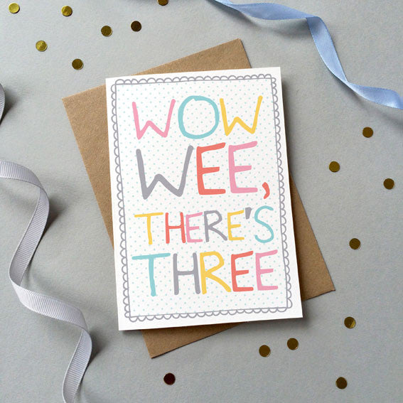 'Wow Wee' Triplets Card - Sarah Catherine
