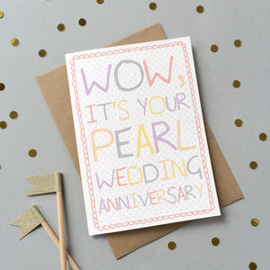 Special Wedding Anniversary Card - Sarah Catherine