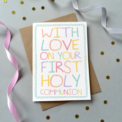 GC088/9 - 'First Holy Communion' Card - 6 pack - Sarah Catherine