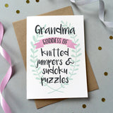 'Grandma Goddess Of…' Personalised Card - Sarah Catherine