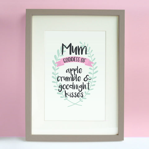 Goddess Mum Personalised Print - Sarah Catherine