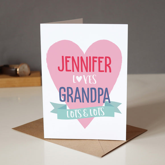 Sarah Catherine Loves Grandpa Card