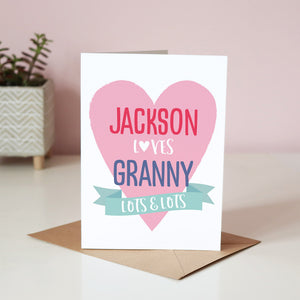 Sarah Catherine Loves Granny Card
