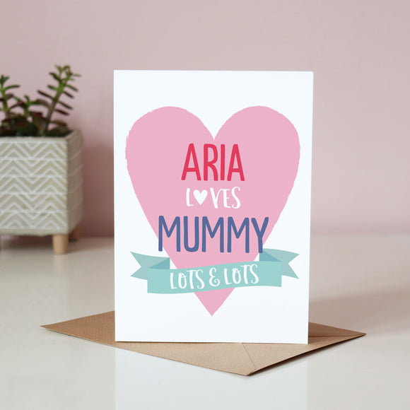 Sarah Catherine Loves Mummy Card