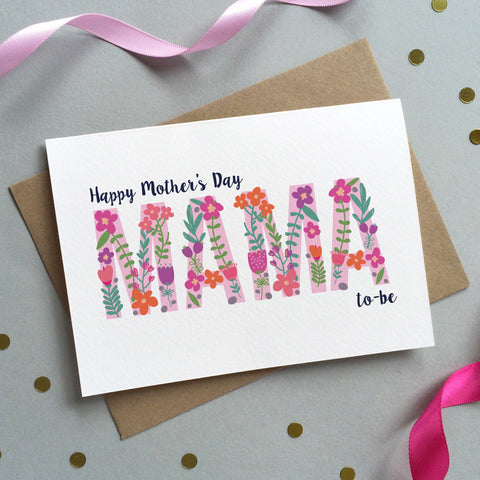 Floral 'Mum to be' Mother's Day Card