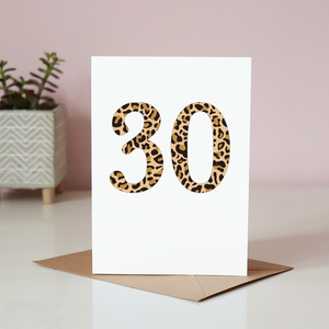 Leopard Print Birthday Card Sarah Catherine