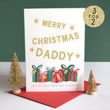 Daddy Christmas Card Personalised Sarah Catherine