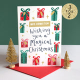 Personalised Teacher Presents Christmas Card