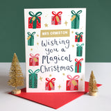 Sarah Catherine Personalised Teacher Christmas Card