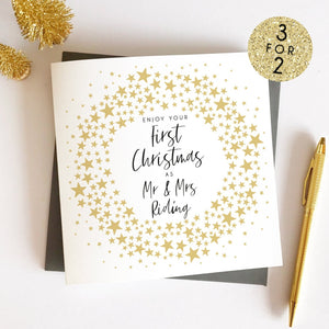 First Married Christmas Card Sarah Catherine