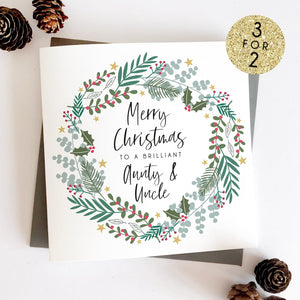 Aunt Uncle Personalised Christmas Card Sarah Catherine