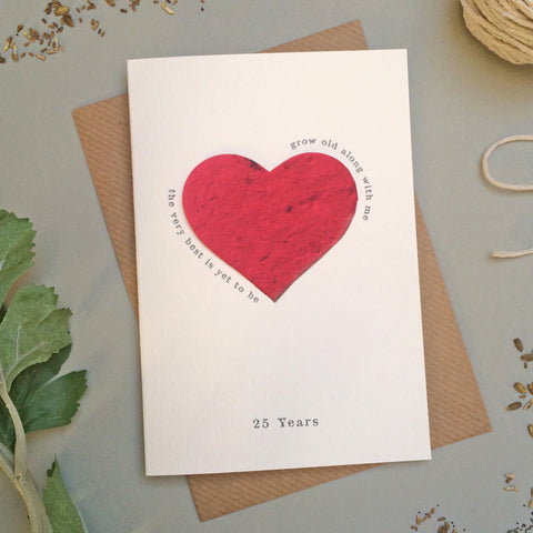 GC118c/d - Plantable Heart Anniversary Card - 6 pack