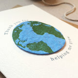 plantable globe fathers day card