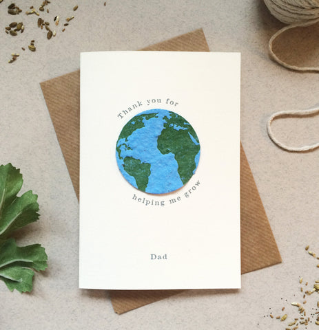 Plantable Globe Father's Day Card - Sarah Catherine