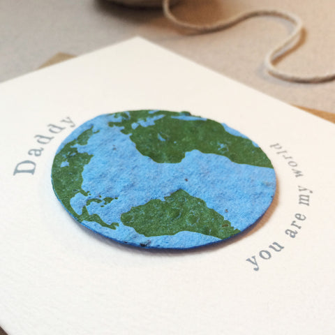 Plantable Globe World Father's Day Card - Sarah Catherine