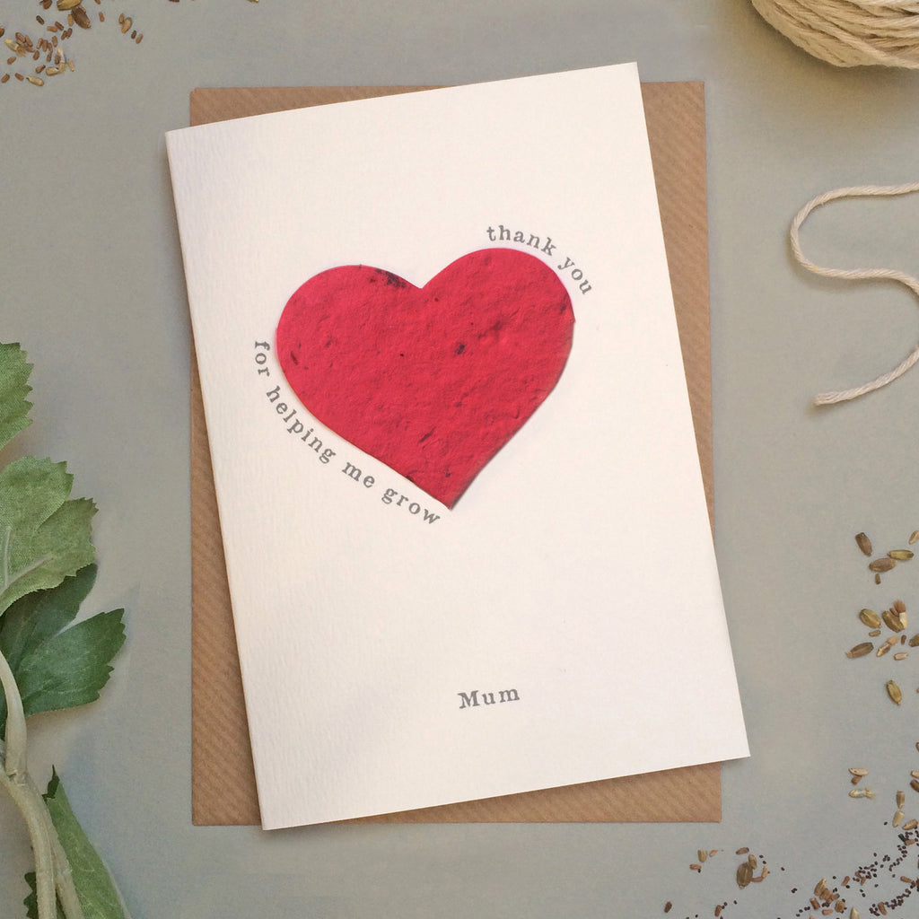 GC117 - Plantable Heart Mother's Day Card - 6 pack - Sarah Catherine