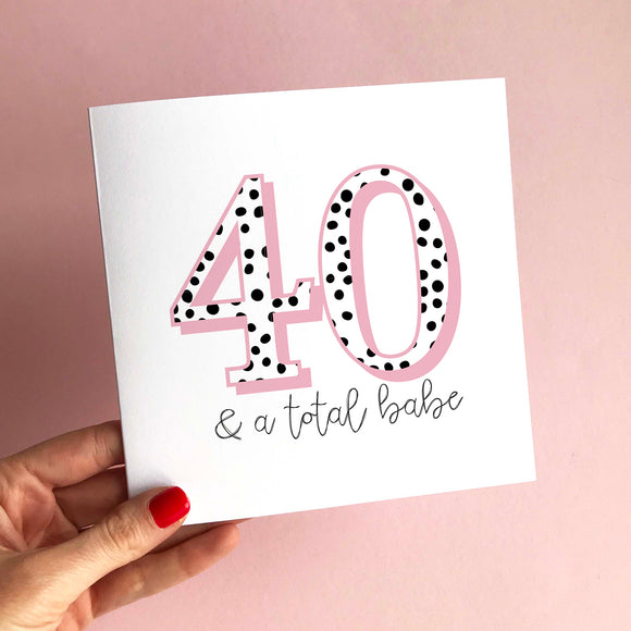 Dotty Print Age Card