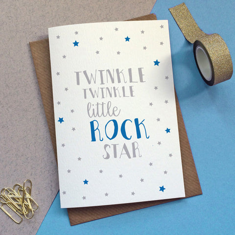 'Twinkle Twinkle Little Rock Star' Card - Sarah Catherine