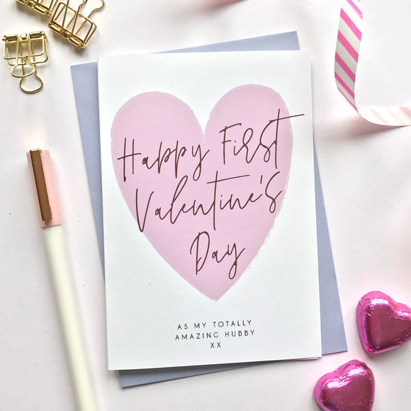 Sarah Catherine Valentine's Card First Married