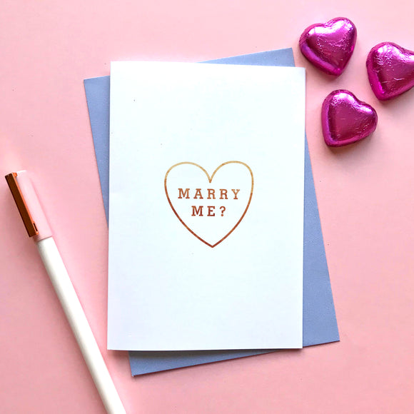 Sarah Catherine Marry Me Proposal Card