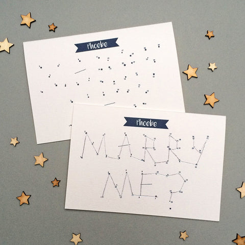 Dot To Dot Personalised Proposal Card