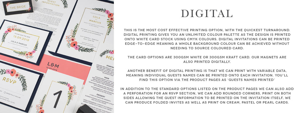 Wedding Stationery Digital Printing Wedding Invitations