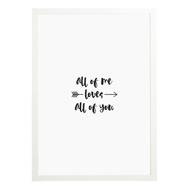 All Of Me Print - Russet and Gray
