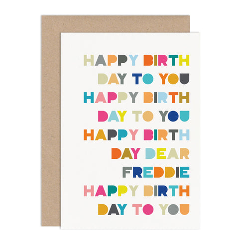 Birthday Song Card