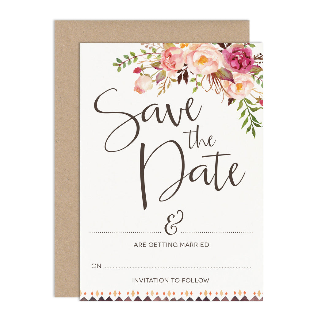 DIY Wedding Stationery Budget Wedding Invitation Floral Wedding Stationery Save The Date