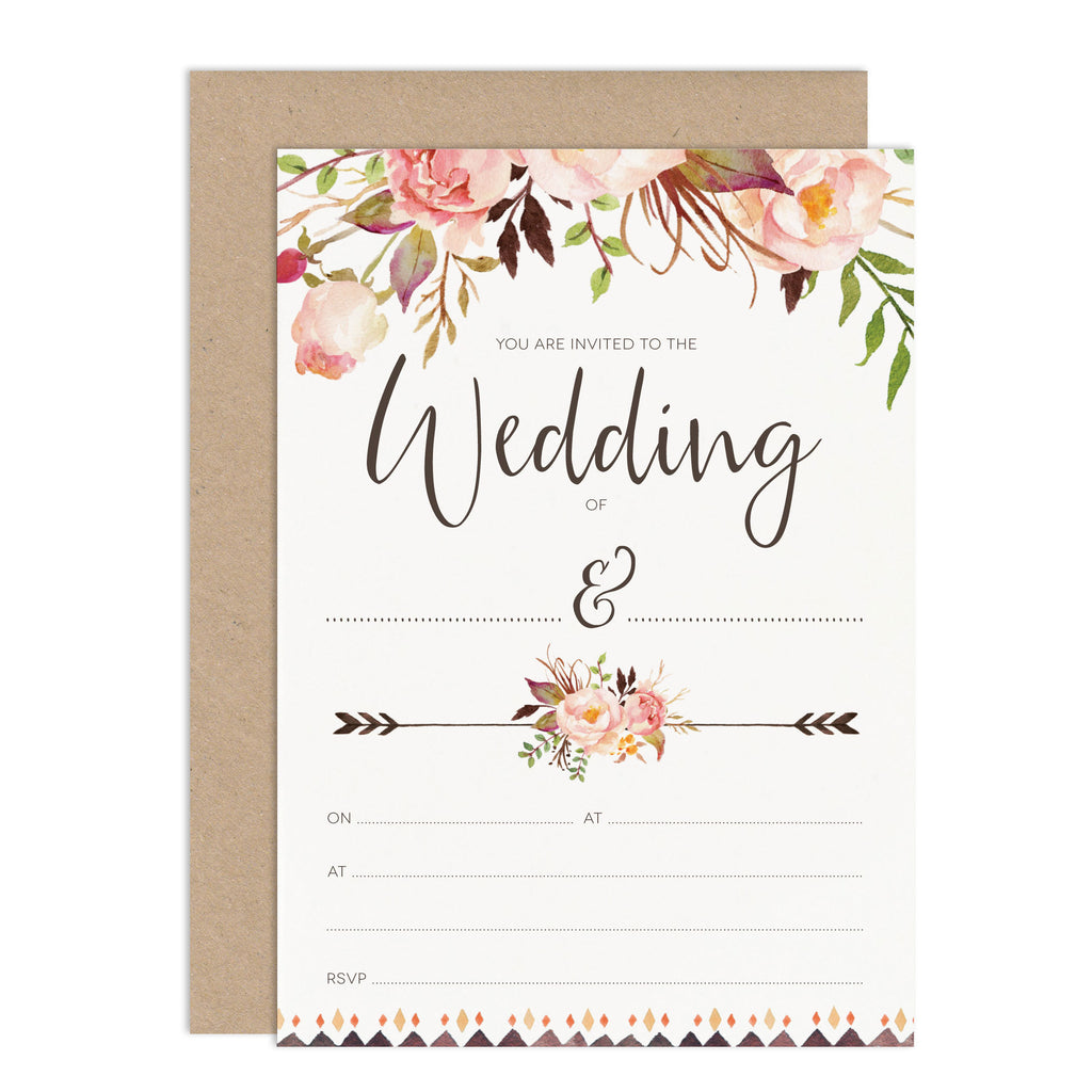DIY Wedding Stationery Budget Wedding Invitation Floral Wedding Stationery