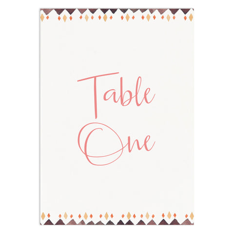 Boho Floral Table Numbers