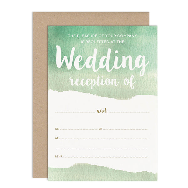 DIY Watercolour Wedding Stationery