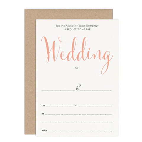 Calligraphy Script Ready To Write Wedding Stationery