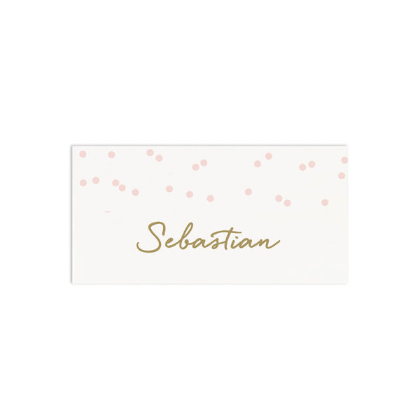 Personalised Confetti Wedding Place Cards