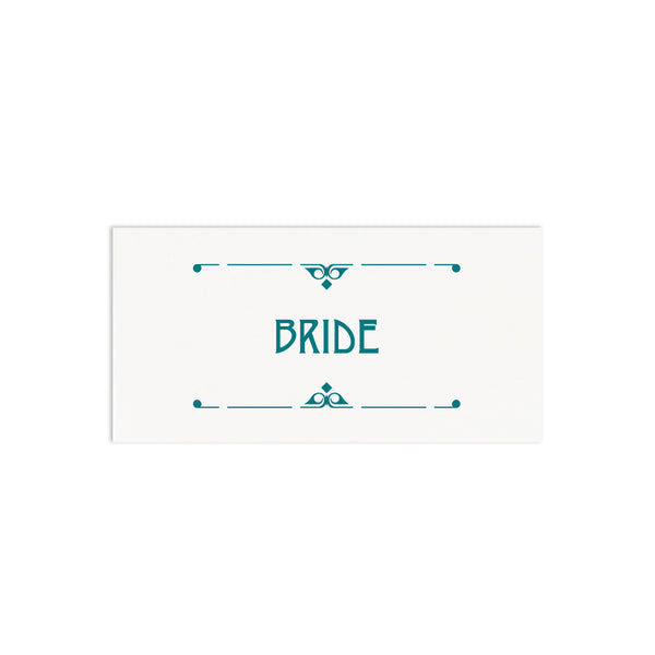 Art Deco Personalised Wedding Place Cards