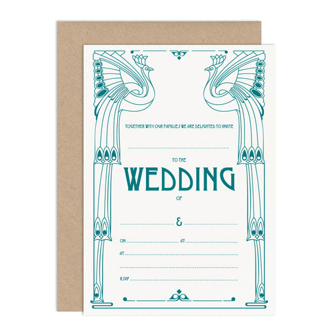 DIY Art Deco Wedding Stationery