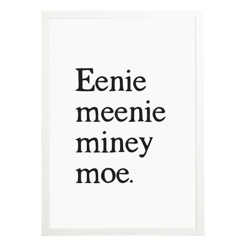 Eenie Meenie Miney Moe Nursery Print - Russet and Gray