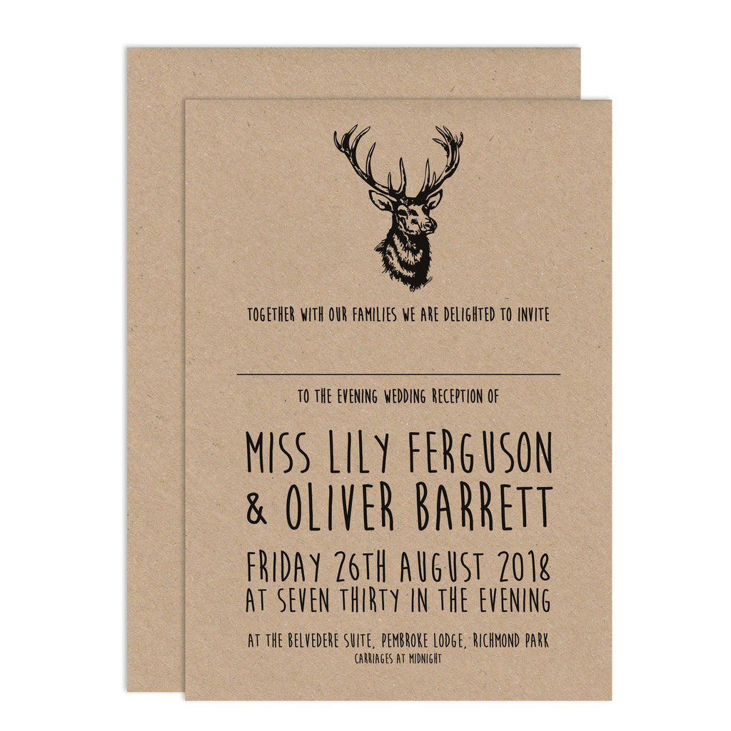 Enchanted Forest Wedding Invitations – Russet and Gray