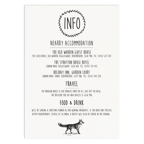 Enchanted Forest Information Card - Russet and Gray