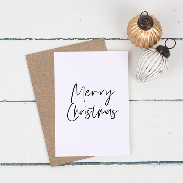 Simple Merry Christmas Card Pack