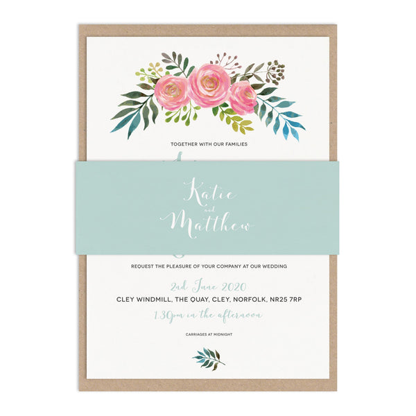Floral Wedding Invitation Sample Pack