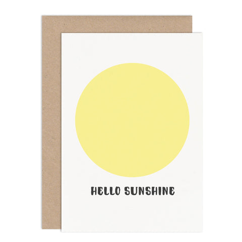 Hello Sunshine Card - Russet and Gray