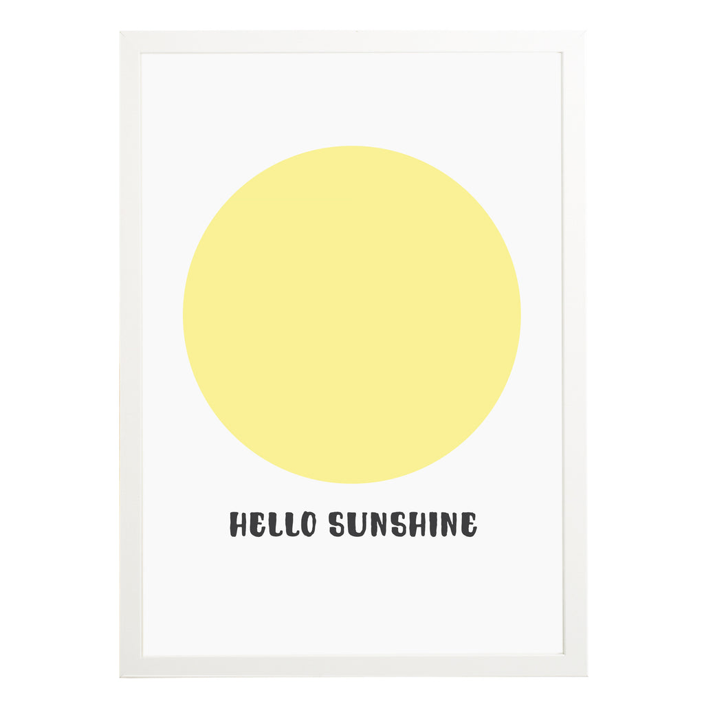 Hello Sunshine Nursery Print - Russet and Gray