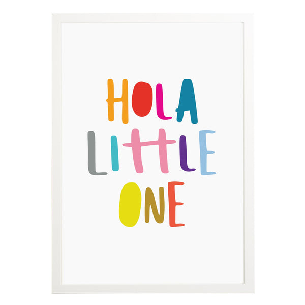 Hola Little One Nursery Print