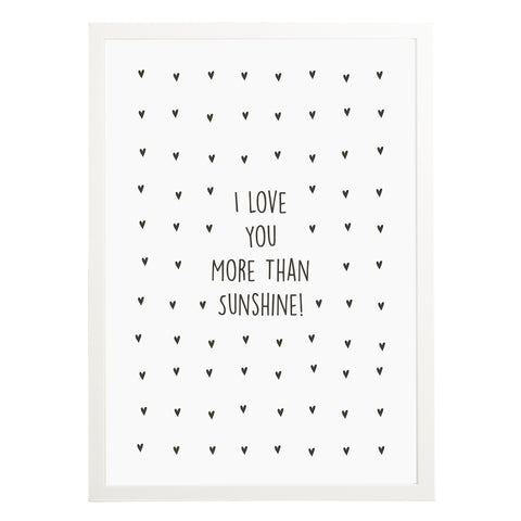Personalised I Love You More Than Print - Russet and Gray